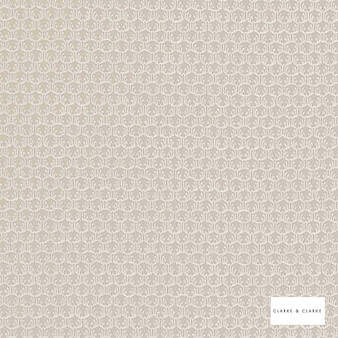 Clarke & Clarke - Honore Natural  | Curtain & Upholstery fabric - Beige, Mediterranean, Kilim, Geometric, Pattern, Small Scale, Fibre Blend