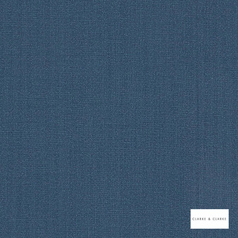 Clarke & Clarke - Hudson Denim  | Curtain Fabric - Fire Retardant, Blue, Plain