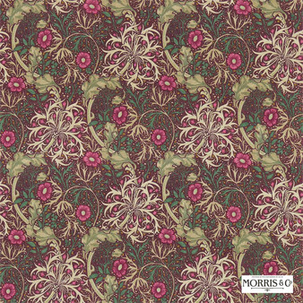 Morris and Co - Morris and Co - Seaweed 224473  | Curtain & Upholstery fabric - Pink, Purple, Floral, Garden, Botantical, Art Nouveau, Craftsman