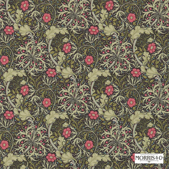 Morris and Co - Morris and Co - Seaweed 214716  | Wallpaper, Wallcovering - Fire Retardant, Green, Floral, Garden, Botantical, Art Nouveau, Craftsman