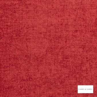 Clarke & Clarke - Karina Garnet  | Curtain & Upholstery fabric - Orange, Red, Plain
