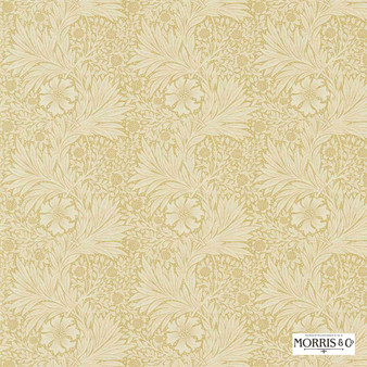 Morris and Co - Marigold 220316  | Curtain & Upholstery fabric - Gold, Yellow, Floral, Garden, Botantical, Art Nouveau, Craftsman, Natural
