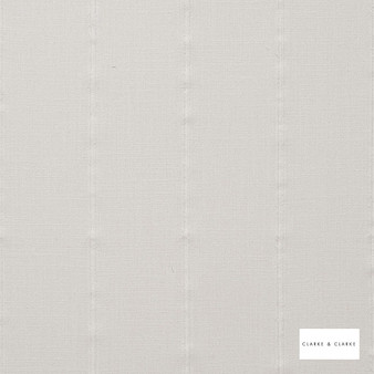 Clarke & Clarke - Knowsley Ivory  | Curtain Fabric - Stripe, Transitional, Whites, Fibre Blend