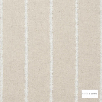 Clarke & Clarke - Knowsley Natural  | Curtain Fabric - Beige, Stripe, Traditional, Transitional, Fibre Blend