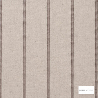 Clarke & Clarke - Knowsley Taupe    Curtain Fabric - Brown, Stripe, Transitional, Fibre Blend