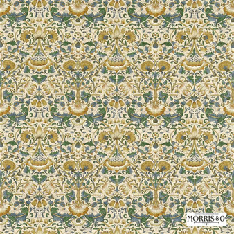 Morris and Co - Lodden 222522  | Curtain & Upholstery fabric - Gold, Yellow, Floral, Garden, Botantical, Traditional, Art Nouveau, Craftsman, Damask