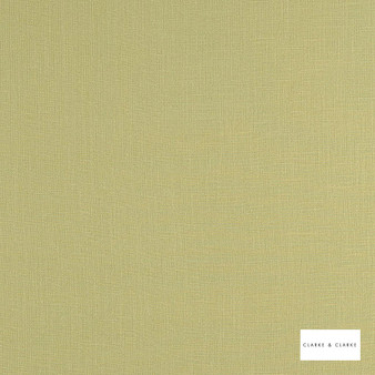 Clarke & Clarke - Lindow Parsley  | Curtain & Upholstery fabric - Linen/Linen Look, Green, Plain, Fibre Blend