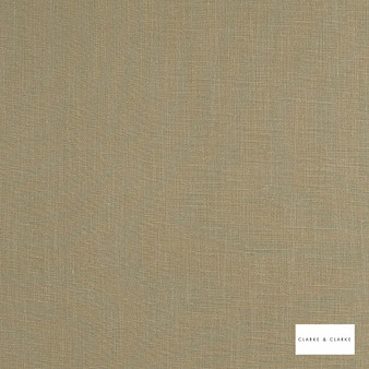 Clarke & Clarke - Lindow Putty  | Curtain & Upholstery fabric - Linen/Linen Look, Beige, Plain, Fibre Blend
