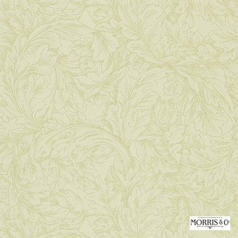 Morris and Co - Acanthus Scroll DMORAC102  | Wallpaper, Wallcovering - Fire Retardant, Gold, Yellow, Floral, Garden, Botantical, Traditional, Scroll