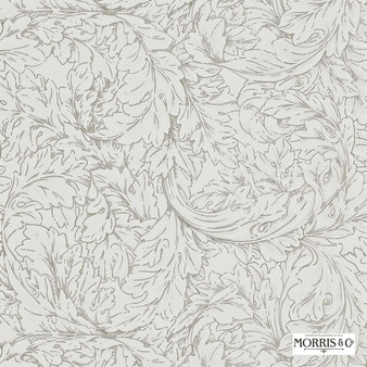Morris and Co - Acanthus Scroll DMORAC104  | Wallpaper, Wallcovering - Fire Retardant, Floral, Garden, Botantical, Traditional, Whites, Art Nouveau