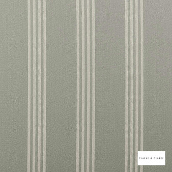 Clarke & Clarke - Marlow Duckegg  | Curtain & Upholstery fabric - Green, Stripe, Traditional, Natural, Natural Fibre