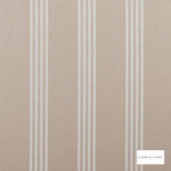 Clarke & Clarke - Marlow Natural  | Curtain & Upholstery fabric - Brown, Stripe, Traditional, Natural, Natural Fibre
