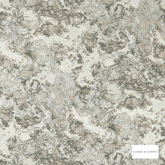 Clarke & Clarke - Marmo Pebble  | Curtain & Upholstery fabric - Beige, Abstract, Organic, Marble, Fibre Blend