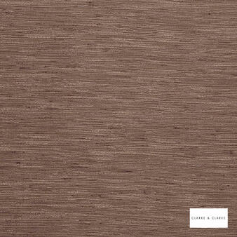 Clarke & Clarke - Matka Fungi  | Curtain Fabric - Brown, Plain