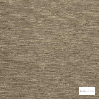 Clarke & Clarke - Matka Hedge  | Curtain Fabric - Brown, Plain