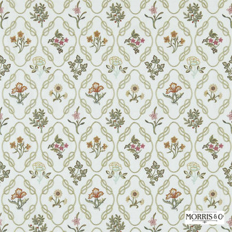 Morris and Co - Kelmscott Trellis 230200  | Curtain Fabric - Green, Floral, Garden, Botantical, Craftsman, Lattice, Trellis, Small Scale, Fibre Blend