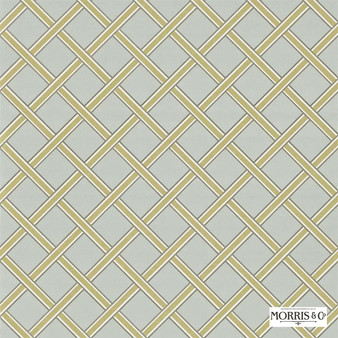 Morris and Co - Gilt Trellis DMOWGI101  | Wallpaper, Wallcovering - Fire Retardant, Gold, Yellow, Diamond, Harlequin, Craftsman, Lattice, Trellis