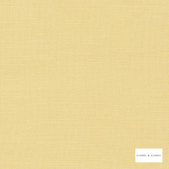 Clarke & Clarke - Nantucket Corn  | Curtain & Upholstery fabric - Gold, Yellow, Natural, Plain, Natural Fibre