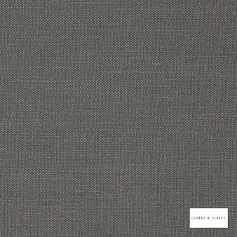 Clarke & Clarke - Nantucket Gunmetal  | Curtain & Upholstery fabric - Grey, Natural, Plain, Natural Fibre