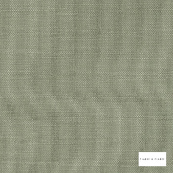 Clarke & Clarke - Nantucket Sage  | Curtain & Upholstery fabric - Green, Natural, Plain, Natural Fibre
