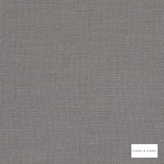 Clarke & Clarke - Nantucket Smoke  | Curtain & Upholstery fabric - Grey, Natural, Plain, Natural Fibre