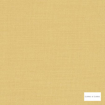 Clarke & Clarke - Nantucket Sunflower  | Curtain & Upholstery fabric - Gold, Yellow, Natural, Plain, Natural Fibre