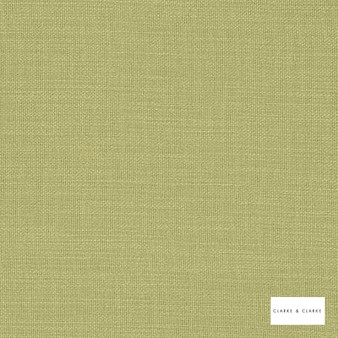 Clarke & Clarke - Nantucket Willow  | Curtain & Upholstery fabric - Green, Natural, Plain, Natural Fibre