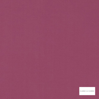 Clarke & Clarke - Novara Ruby  | Curtain Fabric - Pink, Purple, Plain, Fibre Blend