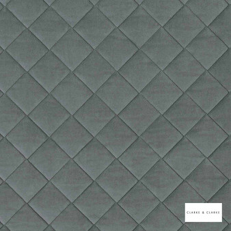 Clarke & Clarke - Odyssey Bay  | Upholstery Fabric - Grey, Diamond, Harlequin, Traditional, Plain
