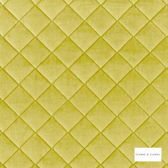 Clarke & Clarke - Odyssey Chartreuse  | Upholstery Fabric - Green, Diamond, Harlequin, Traditional, Plain