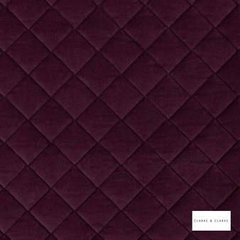 Clarke & Clarke - Odyssey Claret  | Upholstery Fabric - Burgundy, Pink, Purple, Diamond, Harlequin, Traditional, Plain