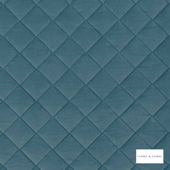 Clarke & Clarke - Odyssey Eau De Nil  | Upholstery Fabric - Blue, Diamond, Harlequin, Traditional, Plain