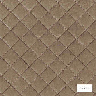 Clarke & Clarke - Odyssey Flax  | Upholstery Fabric - Brown, Diamond, Harlequin, Traditional, Plain
