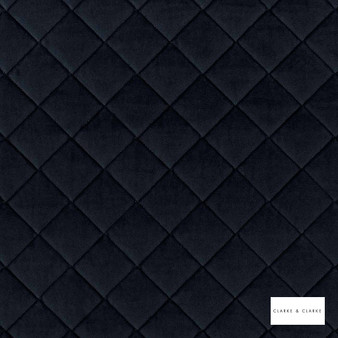 Clarke & Clarke - Odyssey Midnight  | Upholstery Fabric - Black, Charcoal, Blue, Diamond, Harlequin, Traditional, Plain