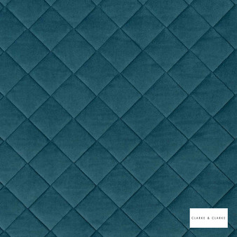 Clarke & Clarke - Odyssey Peacock  | Upholstery Fabric - Blue, Diamond, Harlequin, Traditional, Plain
