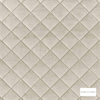 Clarke & Clarke - Odyssey Vanilla  | Upholstery Fabric - Diamond, Harlequin, Traditional, Whites, Plain