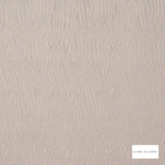 Clarke & Clarke - Onda Pebble  | Curtain & Upholstery fabric - Beige, Contemporary, Velvets, Vermicular