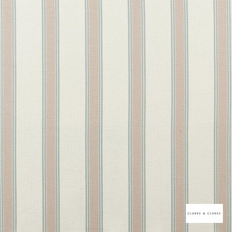 Clarke & Clarke - Oxford Duckegg  | Curtain & Upholstery fabric - Beige, Stripe, Traditional, Natural, Natural Fibre