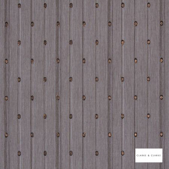 Clarke & Clarke - Pallanza Chocolate  | Curtain & Curtain lining fabric - Brown, Dots, Spots, Modern