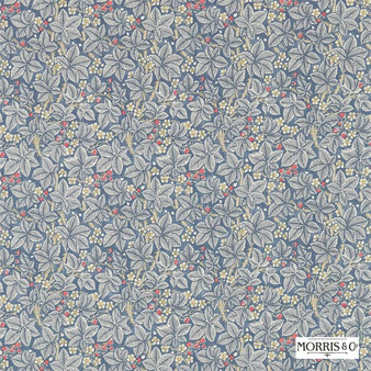 Morris and Co - Bramble 224462  | Curtain & Upholstery fabric - Blue, Floral, Garden, Botantical, Natural, Natural Fibre, Standard Width