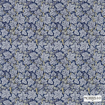 Morris and Co - Bramble 224463  | Curtain & Upholstery fabric - Blue, Floral, Garden, Botantical, Natural, Natural Fibre, Standard Width