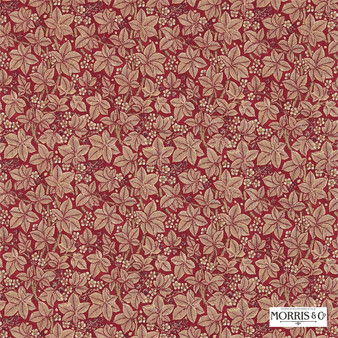 Morris and Co - Bramble 224465  | Curtain & Upholstery fabric - Red, Floral, Garden, Botantical, Natural, Natural Fibre, Standard Width
