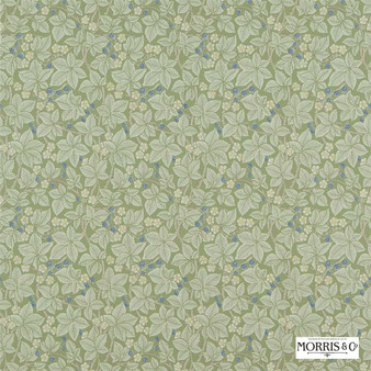 Morris and Co - Bramble 214696  | Wallpaper, Wallcovering - Fire Retardant, Green, Floral, Garden, Botantical, Traditional, Damask