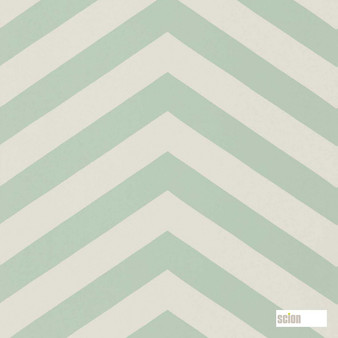 Scion Vector 111303  | Wallpaper, Wallcovering - Fire Retardant, Green, Stripe, Chevron, Zig Zag