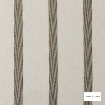 Clarke & Clarke - Spina Mocha  | Curtain & Curtain lining fabric - Brown, Stripe, Traditional, Fibre Blend