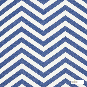 Scion Vector 120480  | Curtain Fabric - Fire Retardant, Blue, Stripe, Chevron, Zig Zag, Natural, Natural Fibre, Standard Width