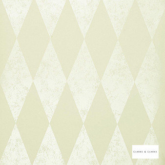Clarke & Clarke - Tortola Pearl Wp  | Wallpaper, Wallcovering - Beige, Diamond, Harlequin, Traditional, Geometric, Pattern, Print