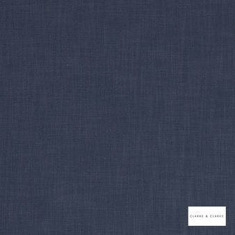 Clarke & Clarke - Vienna Navy  | Curtain & Upholstery fabric - Blue, Plain, Strie, Strie
