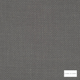 Clarke & Clarke - Willow Charcoal  | Curtain & Upholstery fabric - Black, Charcoal, Plain, Texture