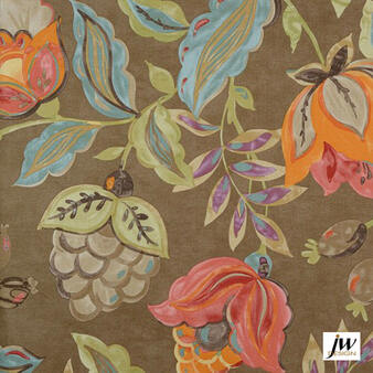 JW-Design - Monet Flaxseed Uncoated 137cm  | Curtain & Upholstery fabric - Fire Retardant, Grey, Stripe, Wood Grain, Organic, Standard Width